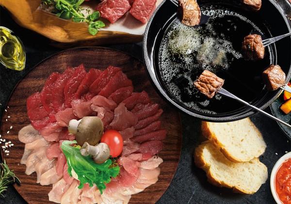 Hausplatte Fondue / Raclette